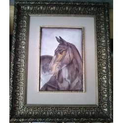 Конь темно-гнедой