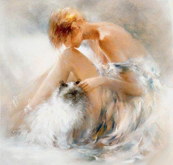 Девушка с котом Уильяма Хенритса